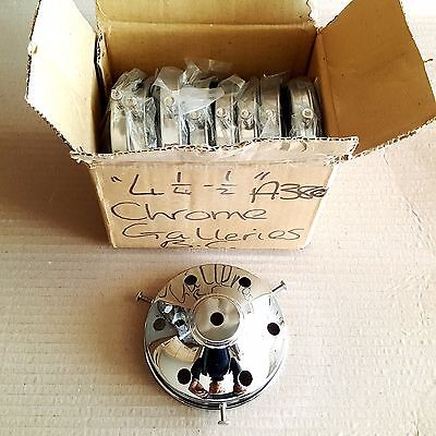 """Box of 9 Chrome 4 1/4"""" Lamp/Light Galleries/ Gallery £10 For 9 Galleries"""