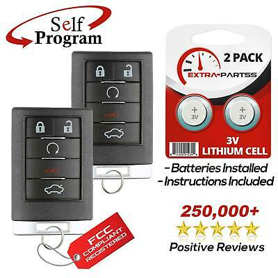 2 For 2008 2009 2010 2011 2012 2013 Cadillac CTS Keyless Entry Remote Key Fob