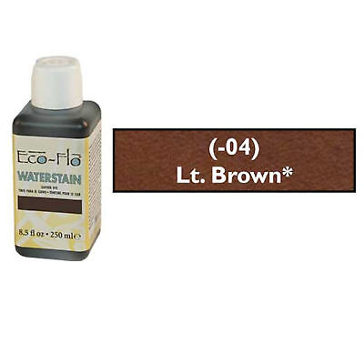 Eco-Flo Professional Waterstain Lt Br  250 ml (8.5 fl oz.) Blended Natural Waxes