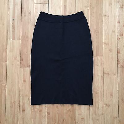 Azzedine Alaia Long Pencil Skirt Viscose Black Sz M