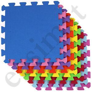 18pc Interlocking Child Kids Soft Foam Tiles Coloured Play Mat Floor Activity