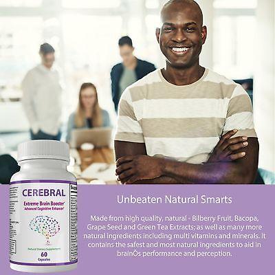 Cerebral Extreme Brain Booster Supplement | Natural Nootropics For Mental Foc... 6