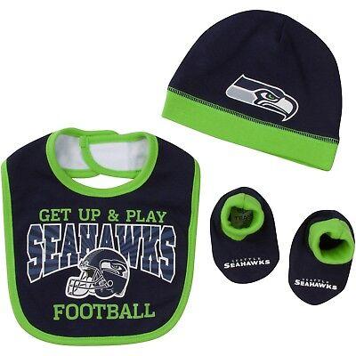 Seattle Seahawks Baby Lätzchen Hut & Booties Set,NFL - Baby Fußball Hut