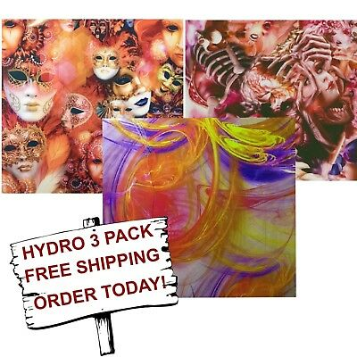 Hydrographic Film Water Transfer Printing Film Hydro Dip Lovely Lady 3 Pack