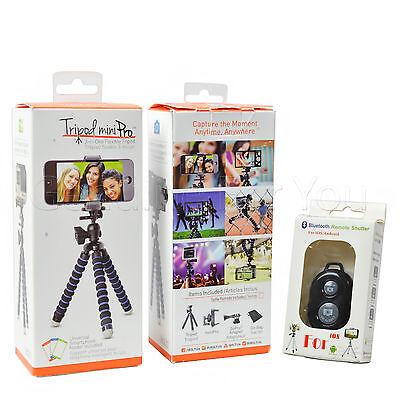 Genuine iBolt Mini Universal GoPro Smartphone Camera Flexible Tripod Holder New