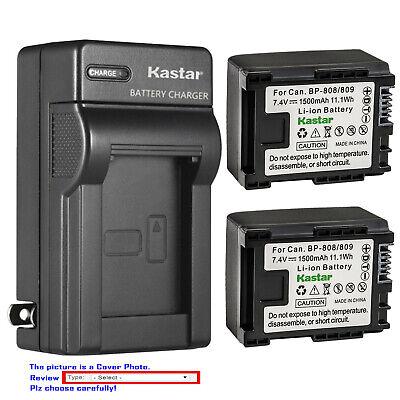 Kastar Battery AC Wall Charger for Canon BP-807 BP-809 BP-819 BP-827 BLI-338