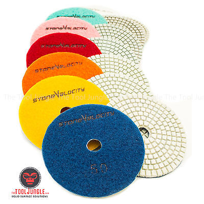 4 Inch Diamond Polishing Pad Wetdry Granite Marble Stone Quartz Concrete