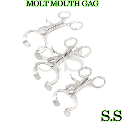 3 Sets 3 Molt Mouth Gag 3.50 4.50 5.50 Surgical Dental Anesthesia Instrument