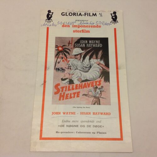 The Fighting Seabees John Wayne Susan Hayward 1944 Danish Movie Press Release