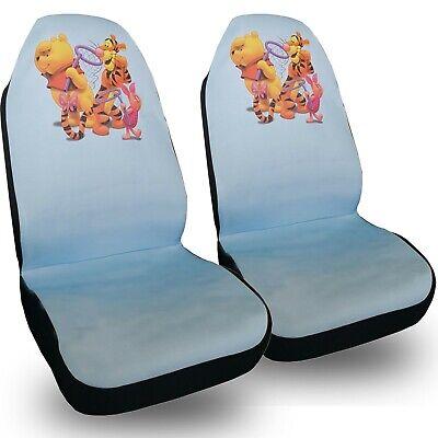 Disney Winnie the Pooh Front Car Seat Cover 2pc Set Auto Accessories (Disney Car Accessories)