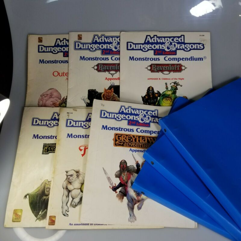AD&D 2nd Ed. MONSTROUS COMPENDIUM 6ct Forgotten Realms, Fiend Folio, and Others
