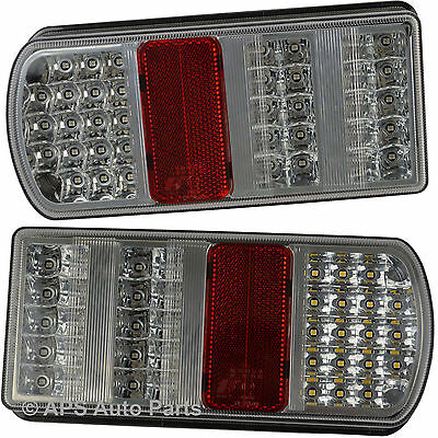 7 Function LED Rear Tail Trailer Caravan Lights Lamps Universal 12v
