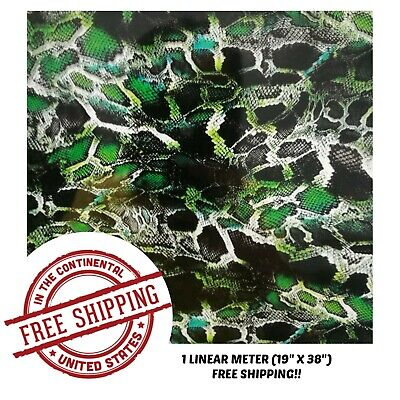 Hydrographic Film Water Transfer Hydro Dipping Dip Film 19 X 38 Green Python