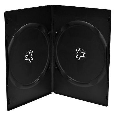 100 DVD Hüllen Slim 2er Box 7 mm für je 2 BD / CD / DVD schwarz