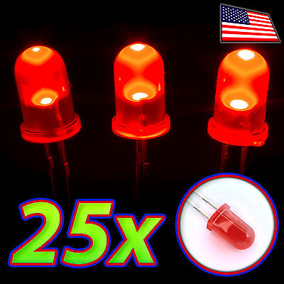 25x Red Leds - 5mm Diffused Lens