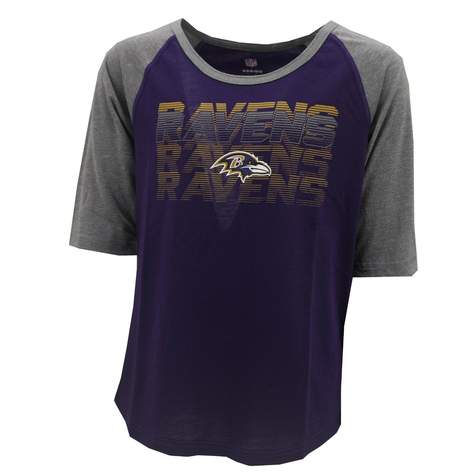 3ff0fcf74 Details about Baltimore Ravens Official NFL Apparel Kids Youth Girls Size  Shirt New with Tags