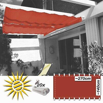 Garten & Terrasse Seilzugsystem Seilspannmarkise Weiss Ca 330x200 Cm Pergola Komplett 26 Laufhaken Sonnensegel