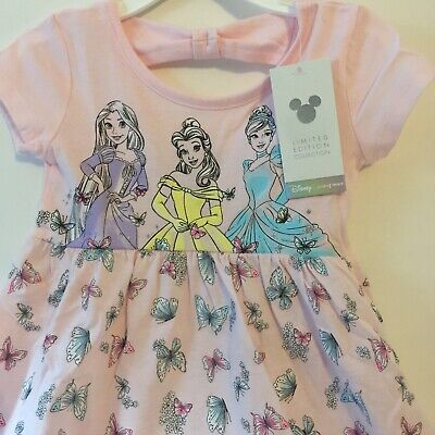 Disney Toddler Girl Babydoll Dress 3T Pink Belle Cinderella & Rapunzel - Toddler Belle Dress