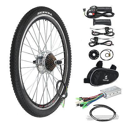 "Electric Bicycle Conversion Kit 250W 36V E Bike Motor Speed Brake 26"" Rear Wheel"