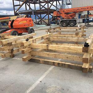 6x6x8 hardwood posts