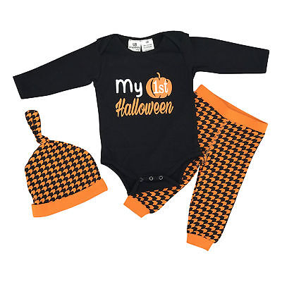 Baby Unisex My 1st Halloween Layette Set Boutique Newborn Infant Clothes 3m 6m - My 1st Halloween Baby Clothes