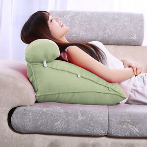 Adjustable Back Wedge Cushion Pillow Sofa Bed Office Chair Rest Neck Support