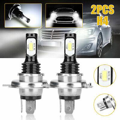 2x H4 9003 HB2 Super Bright CSP LED Headlight Kit High Low Beam Bulb White 6000K