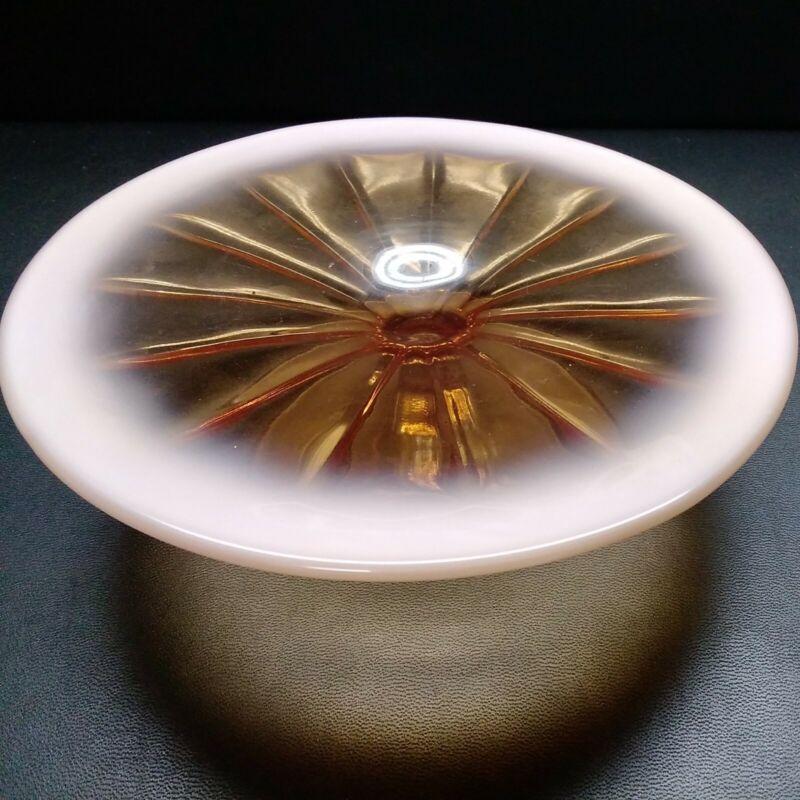 "Vintage Opalescent Mini Cake Pedestal Stand 7""w × 2""h"
