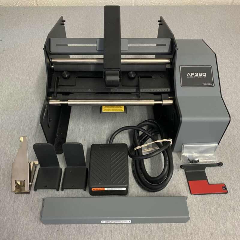 Primera AP360 Label Applicator for Cylindrical Containers W/ Foot Pedal