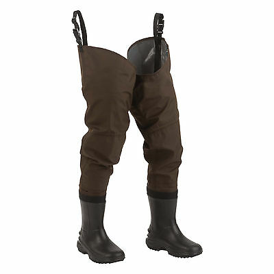 Hodgman Redstone waterproof breathable cleated boot hip waders SIZE 8 NEW 7546