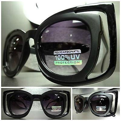 Men Women CLASSIC VINTAGE 80's RETRO Style SUN GLASSES Matte Black Fashion Frame