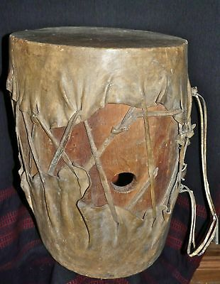SCARCE OLD TEPEHUAN  MEXICAN INDIAN DRUM