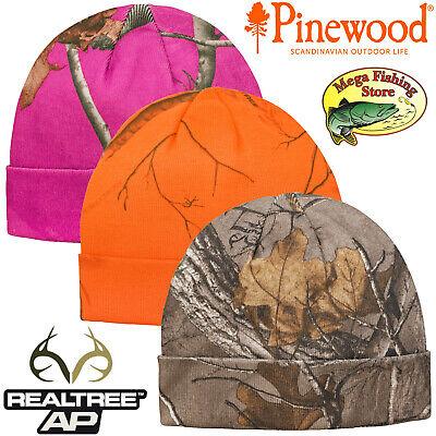 Pinewood Realtree Camou Strickmütze - Outdoor Jagd Angel Mütze / Signalmütze