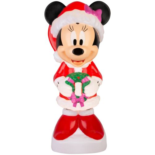 """Blow Mold Minnie Mouse Christmas 24"""" Gemmy New Light Up Decor"""
