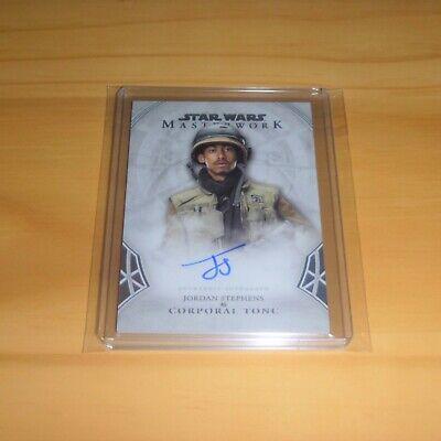 2018 Star Wars Masterwork - Autograph Card - Jordan Stephens as Corporal Tonc