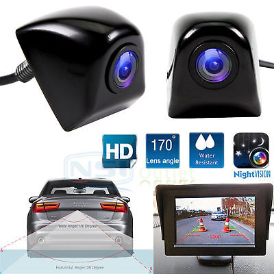 170  Cmos Car Rear View Reverse Backup Parking Camera Waterproof Night Vision Hd