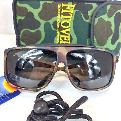 Fitovers Polarized Sunglasses Sport Camo w/Gray Lens Small NWT Aviator Wrap