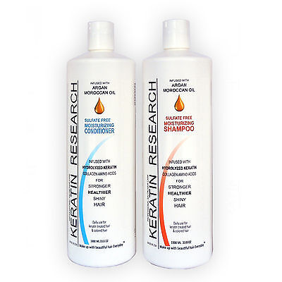 Sulfate Free Shampoo Conditioner 2 Liters Set With Moroccan Argan Oil Amazing - $45.00