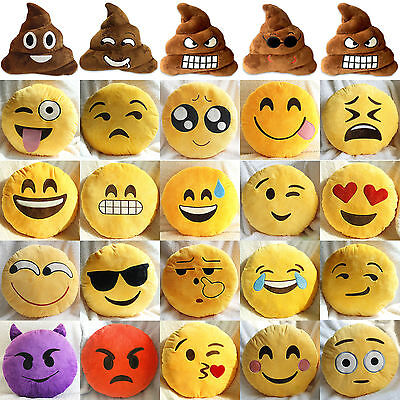 Emoji Smiley Emoticon Cushion Pillow Stuffed Plush Soft Toys Doll Bed Sofa Home