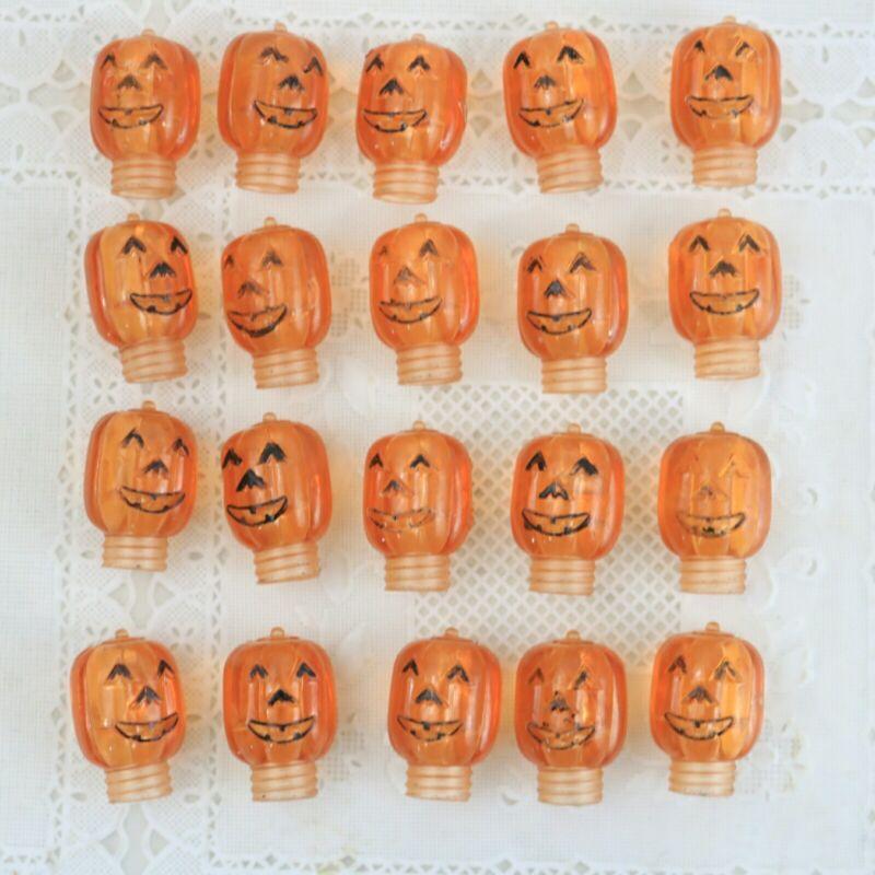 Vintage Pumpkin Jack-O-Lantern JOL Halloween String Light covers lot