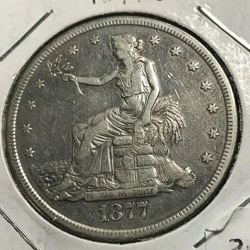 1877-S SILVER TRADE DOLLAR SCARCE TYPE COIN