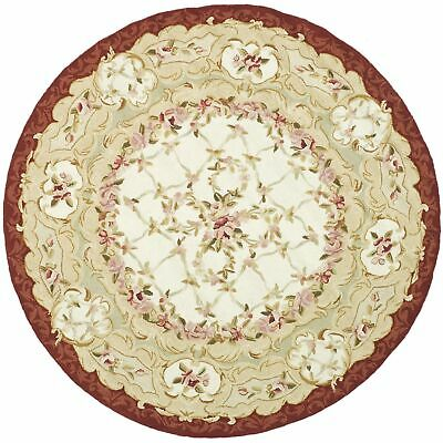 Safavieh Chelsea Aubusson Ivory / Burgundy Wool Area Rug 4'