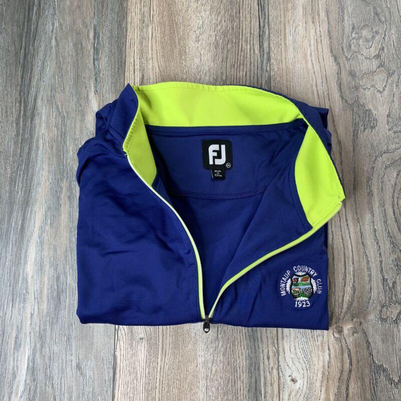 FootJoy FJ Performance 1/4 Zip Pullover Jacket Sz 2XL Mantaup Country Club