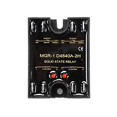 Solid State Relay For Mager Mgr-1 D4840a-2h 40a Single-phase 3-32vdc 24-480vac