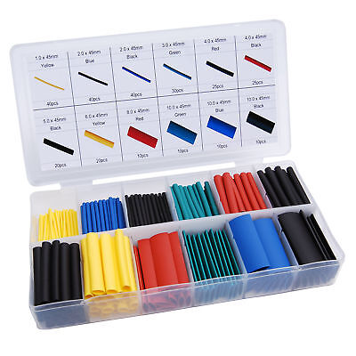 280pcs Cable Heat Shrink Tubing Sleeve Wire Wrap Tube 21 Assortment Kit Box Set