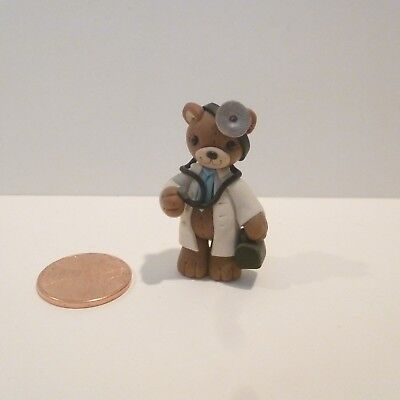 MINIATURE CLAY DOCTOR BEAR SIGNED   DEALS TODAY 11/21 100 LISTINGS FOR 10.00 EA ()