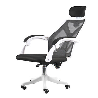 High Back Office Chair Ergonomic Computer Desk Mesh Adjustable Armrest Headrest