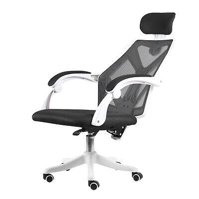 High Back Office Chair Ergonomic Computer Desk Mesh Adjustable Armrest Headrest