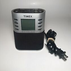 Timex T308S LCD Digital AM FM Dual Alarm Clock Radio Preset Nature Sounds TESTED