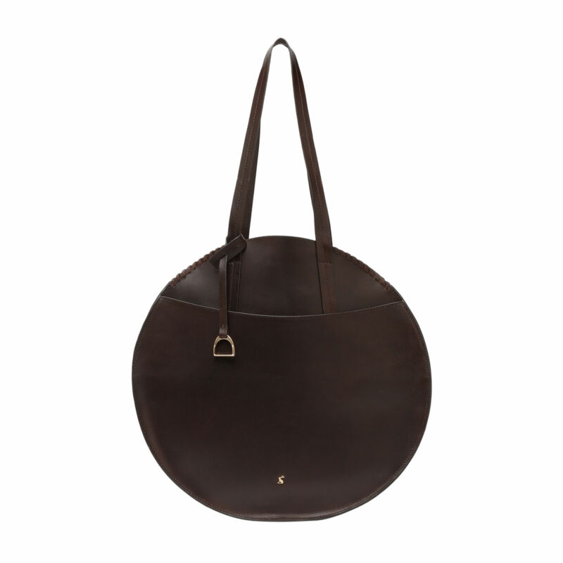 Joules Foxton Round Womens Bag Saddle - Chocolate One Size